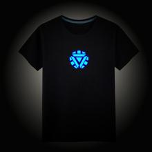 Boys Girls T-Shirt 100% Cotton Night Light T-Shirt Short-Sleeve Luminous T Shirt Summer Tops Suitab Height 100-185CM Children