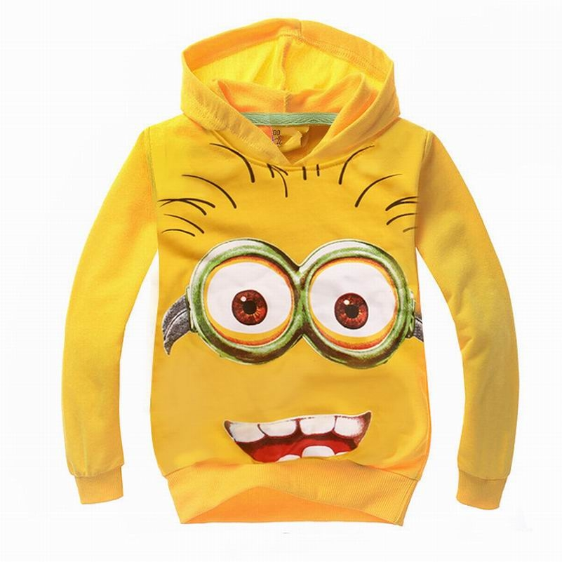 2016 Autumn Spring New Children Kids T Shirts Despicable Me Boys Minion T Shirt Girls Nova T-Shirt Kids Hoodies Tops & Tees #363(China (Mainland))