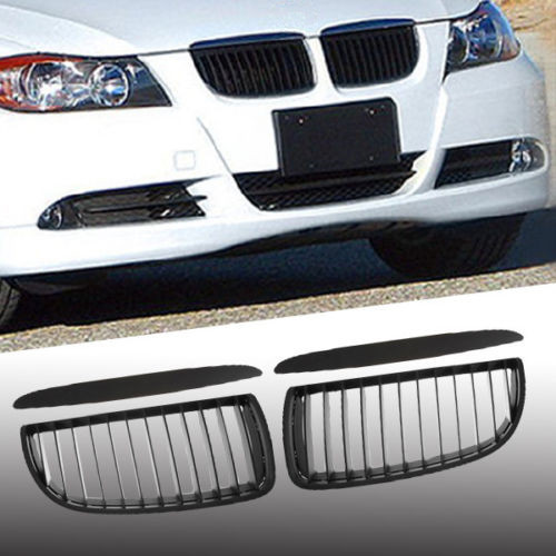 For BMW 3 Series E90 E91 Saloon Touring 4D Black Sports Kidney Grill Grille M3 2005-2008<br><br>Aliexpress