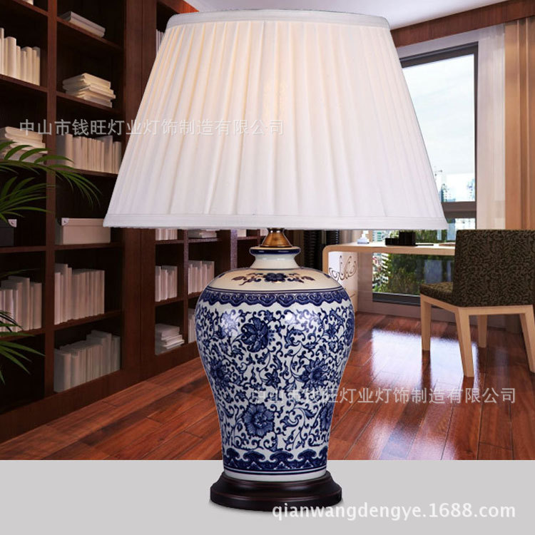 Online buy wholesale blue and white porcelain lamps from - Porcelain table lamps for living room ...