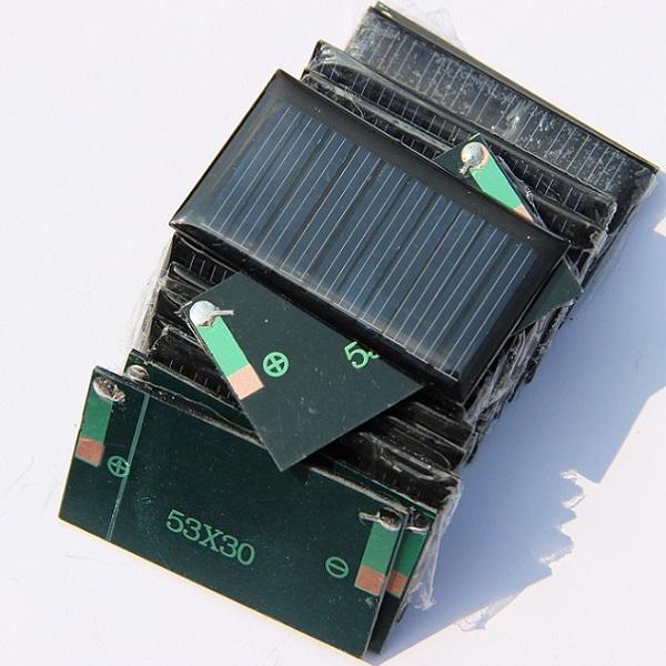 0.15W 5V Mini Solar Cell Solar Panel For 3.6V Battery Charger DIY Solar Toy Panel Education Kits 53*30MM 20pcs/lot Free Shipping(China (Mainland))