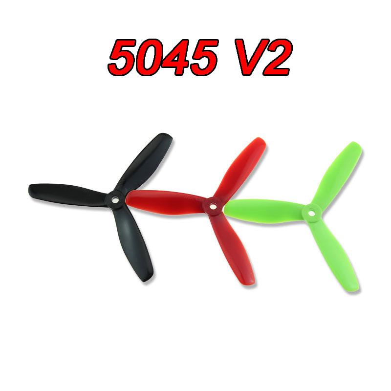 6pairs 5045 V2 3 blades Prop CW/CCW Bullnose Propeller CW /CCW for 250 RC FPV Racing Quadcopter ZMR250 Robocat(China (Mainland))