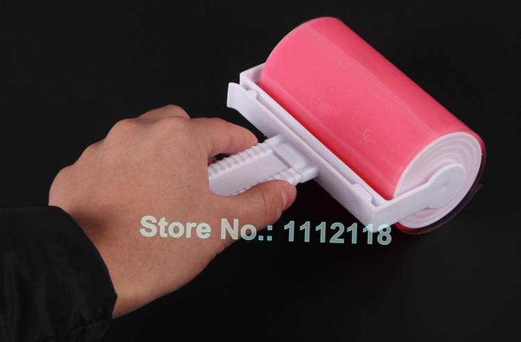 Free Shipping Magic Reusable Sticky Buddy Picker Washable Cleaner Lint Roller Pet Hair Remover Brush Cleaning Brush Dust 100pcs(China (Mainland))