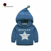 Lwly Brand New Spring and Autumn Children Clothing Boys Casual Fashion Magic Star Cotton Hoodied  with a Top Bobble Sweatershirt(China (Mainland))