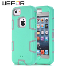 For iPhone 5C Case,WEFOR Hybrid Rugged Triple Layer Combo Case for Apple iPhone 5C with Hard Plastic Inner Shell(China (Mainland))