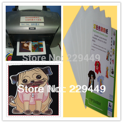 A4 Dark 20pcs/lot Inkjet Heat Transfer Paper Water Themal Transfer Printing Paper With Heat Press For T shirt Transfers Paper(China (Mainland))