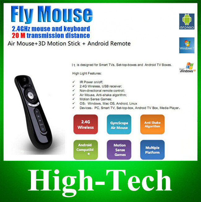 New Arrival T2 Air Mouse 2.4G 3D Motion Stick Remote PC Mouse Mice for TV box Smart TV Media Player Device Free Shipping(China (Mainland))