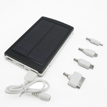 New Solar Charger Power Bank 10000mah External Battery Portable Powerbank for iPhone/HTC/PSP Smart Phone High Capacity(China (Mainland))
