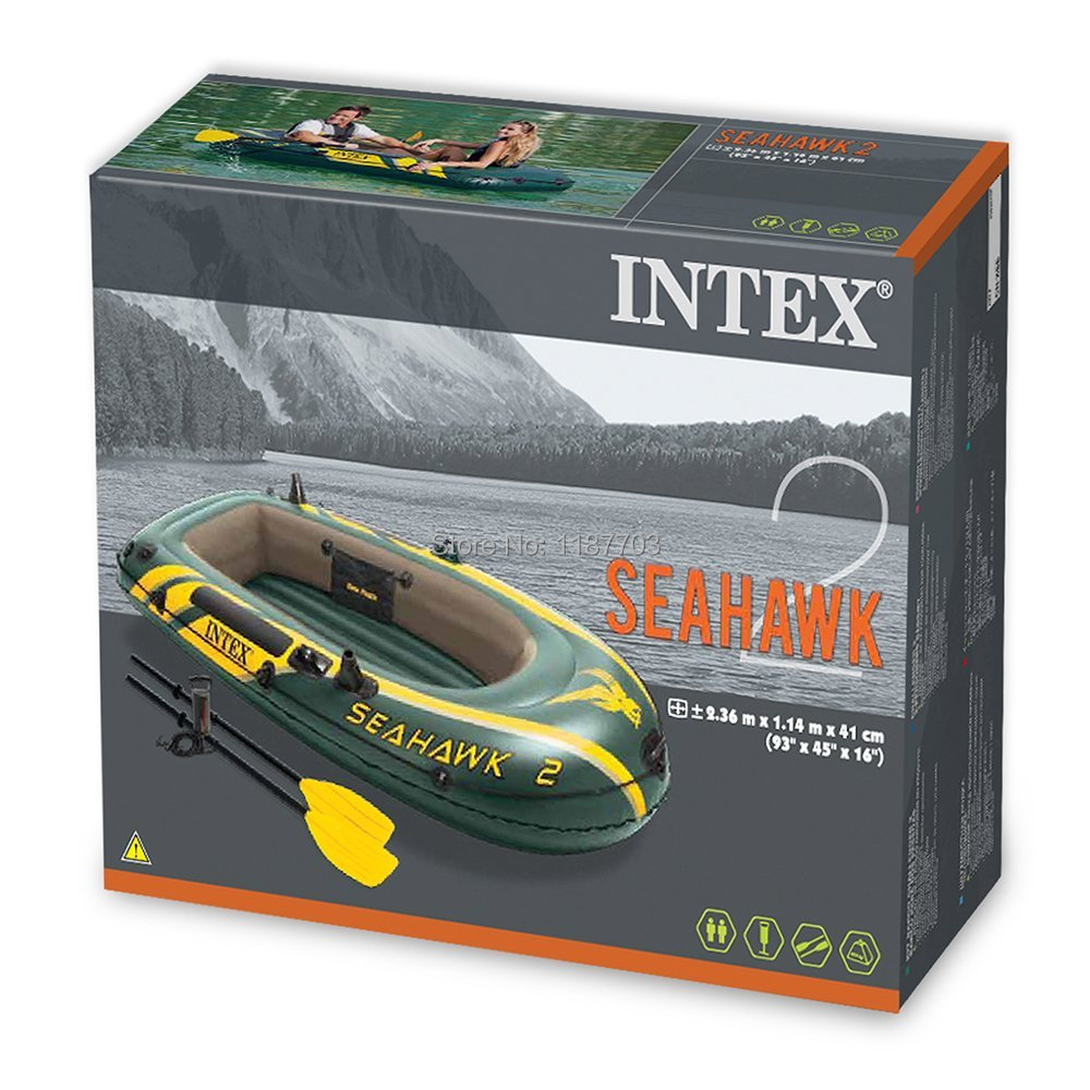Intex Seahawk II Boat Set Inflatable Raft Two Person Inflatable Boat EP w/Oars&Pump(China (Mainland))