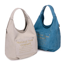 Canvas Shoulder Bags Casual For Women Travel Bags Letter Vintage Tote Women Messenger Handbag Trendy Shell Bags1123