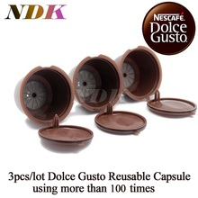 Buy 3pcs/pack Refillable Dolce Gusto coffee Capsule nescafe dolce gusto reusable capsule dolce gusto capsules dolce gusto refill for $5.41 in AliExpress store