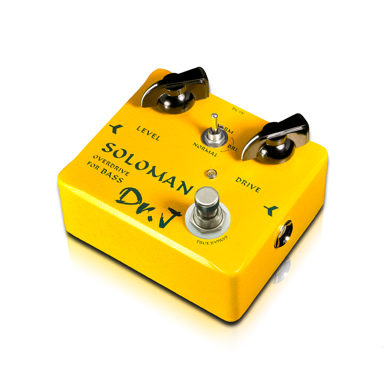 Dr.J D52 SOLOMAN Bass Overdrive Effect Pedal Instruments player with a concise panel outstanding tone Manual stompbox free ship(China (Mainland))