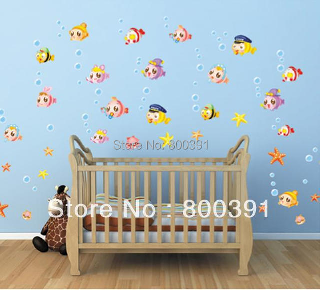 1pcs Drop Shipping Free Shipping Removable Cartoon Fish