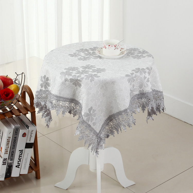 [WIT] Mutlti-size Printed Table Cloth Banquet Lace Table Clothes Cotton Coffee Table Cover Pastoral Dinning Table Cloths Lace(China (Mainland))