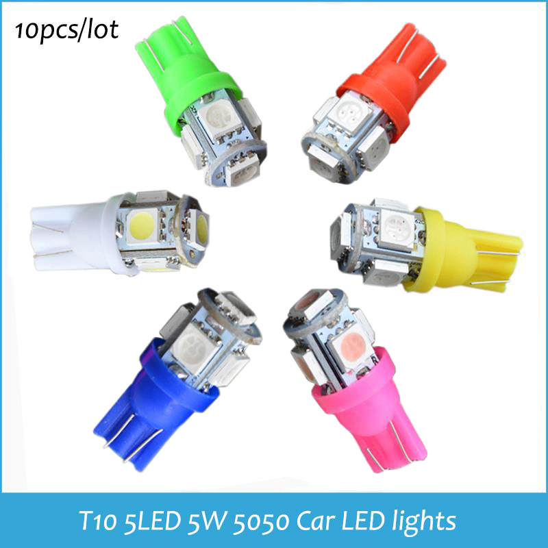 T10 5 LED w5w For Mazda 6 t10 5 led 5050 Clearance lights T10 5SMD Lamps 194 W5W 5050 Wedge Lights T10 5 LED For mazda 3(China (Mainland))