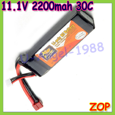 ZOP 11.1V 2200mAh 30C Li-po Upgrade Powerful RC Battery For Helicopters/Boats better than 11.1v 2200mah 25c +free shipping<br><br>Aliexpress