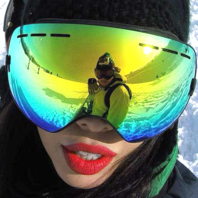 Be Nice Brand Outdoor Wide View Ski & Snowboard Goggles with Detachable Dual Layer Anti-Fog UV-400 skiing eye wear Snow-3100(China (Mainland))