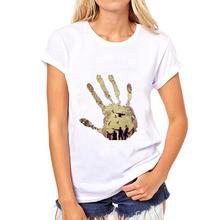 Printing Walking Dead Popular US Drama Fashion Ladies Round Neck Short Sleeve T Shirt Bottoming Shirt Casual Bottoming Shirts