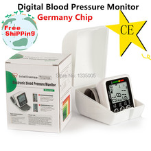 2015 New Health Care Germany Chip Automatic Wrist Digital Blood Pressure Monitor Tonometer Meter for Measuring And Pulse Rate