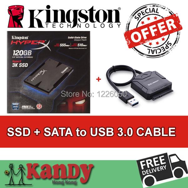 Kingston HyperX 3K SSD 120GB hdd ssd 128gb+SATA to usb 3.0 external hard flash drive disco duro externo laptop computer portable(China (Mainland))