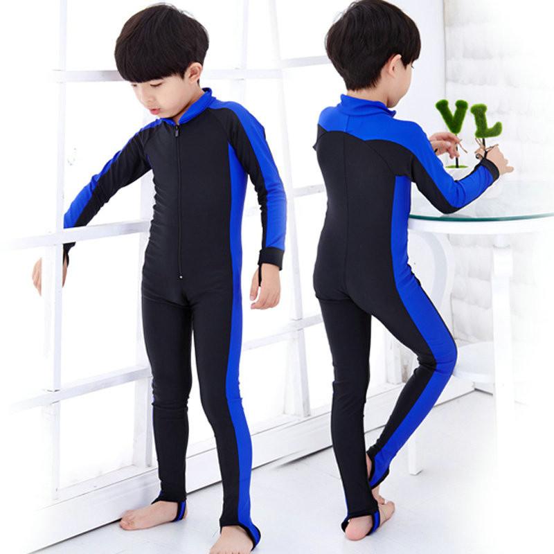 к 2015 году дети опрометчивый купальников осень зима длинные рукава синий розовый цвет мальчиков профессиональные спортивные Купальники