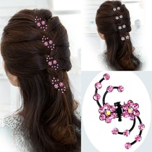 Buy 6Pcs Girls Crystal Snowflake Hair Clips Hair Pins Headwear Crystal Accessories Hair Clips Wholesale for $1.99 in AliExpress store