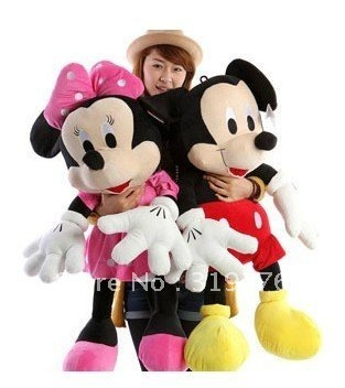 Size 100cm  Mickey Mouse toys Minnie mouse plush toys Christmas gift the birthday gift free shipping