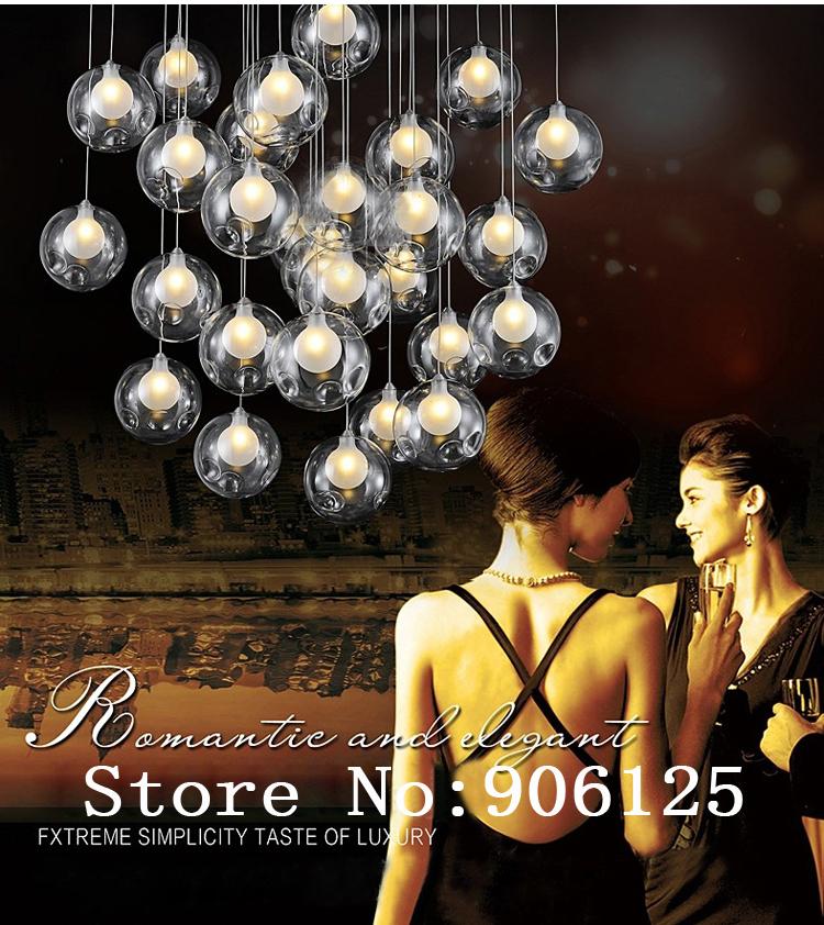 LED Modern Pendant Light Bubble Ball Pendant Light Glass pendant Fixture (Rectangle and Square Shape)+Free shipping!(China (Mainland))