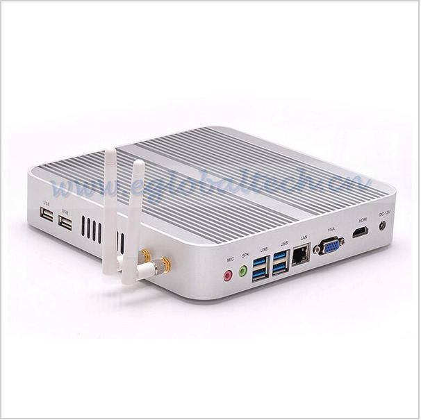 Fanless System Wireless Thin Client with 2GB RAM 8GB SSD for 4K Blu-ray Video Mini PC Windows or Linux 12V Power Tiny Computer(China (Mainland))