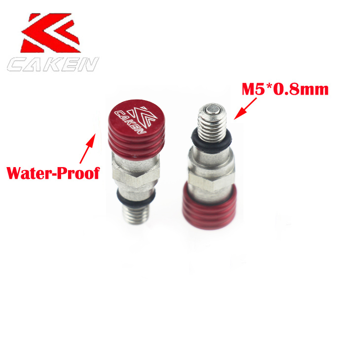 RED M5*0.8mm Fork Relief Valve Fork Bleeder Relief VALVE Fiyd CRF250 450 YZF KXF Dirt Pit Motocross Motorcycle Dirt Pit Bike NEW(China (Mainland))