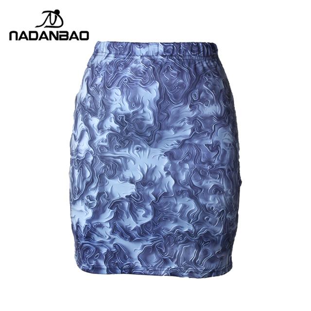 2015 новая женщина юбка абстрактный стиль печать пакет бедра краткое фигурист эластичный ...