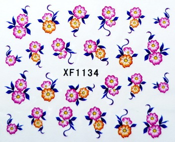 Nail Stickers Nail art Water Transfers Decal Feathers Fruit Flowers Free Shipping XF1134