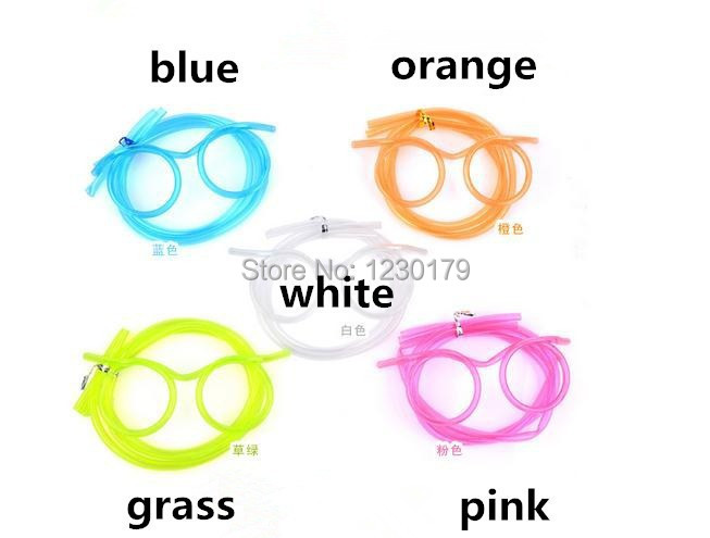 Здесь можно купить  Free Shipping 200pcs/lot Unique Flexible Novelty Soft Glasses Straw Glasses Drinking Tube Fun Drinking  Дом и Сад