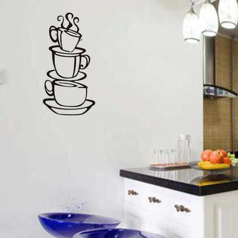 Aliexpresscom Buy COFFEE House Cup Wall Decals Vinyl