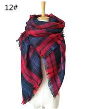 hot Selling za Winter Scarf Plaid Scarf Designer Unisex Acrylic Basic Shawls Women's Scarves hot sale Warm fashion shawls(China (Mainland))
