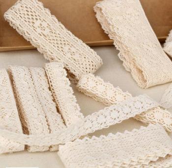 30 yard Diy Handmade Patchwork Cotton Material Cotton Lace Ribbon Beige Color Cotton Lace TRIM cotton lace
