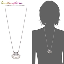 Yunkingdom New Noble Stones Necklaces & Pendants For Women 18k Gold plated Vintage Ethnic Costume Accessories(China (Mainland))