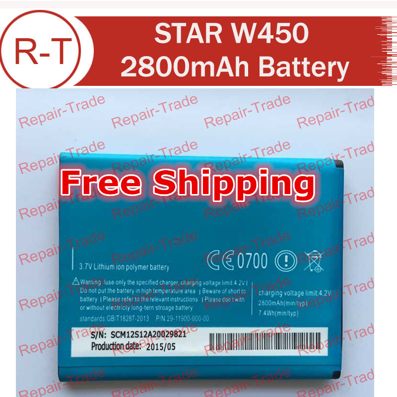 Star W450 Battery 100% Original Large Capacity 2800mAh Li-ion Battery Replacement for STAR W450 Cell Phone Free Shipping(China (Mainland))