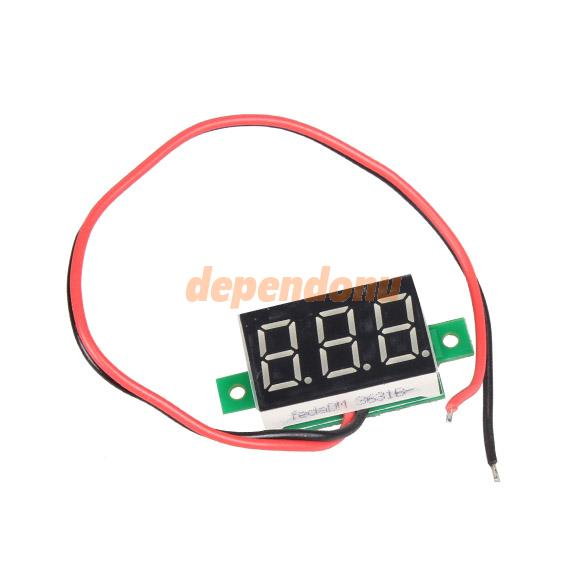 Mini DC 2.5-30V Red LED Panel Voltage Meter 3-Digital Display Voltmeter Free Shipping(China (Mainland))