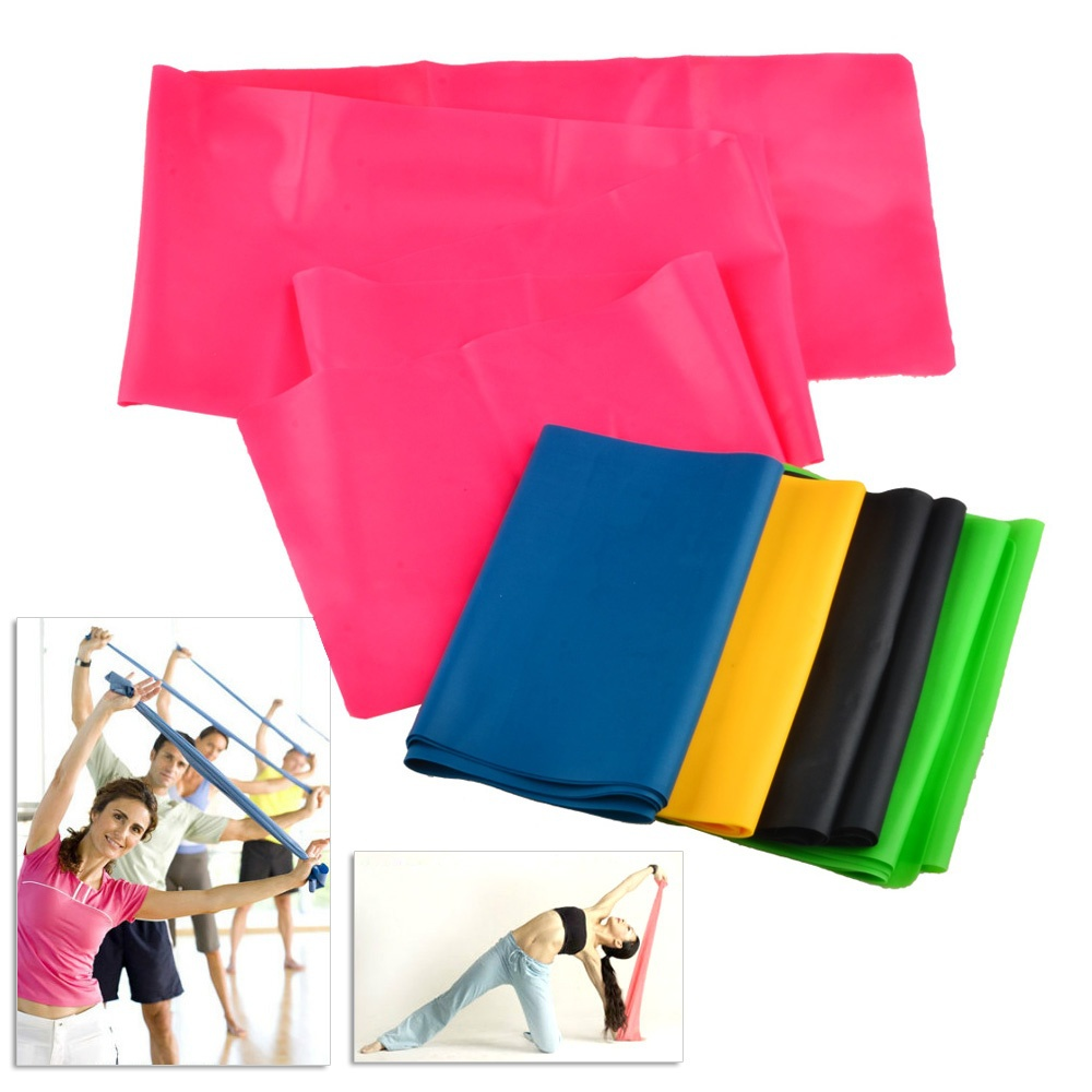 product 1.2M Elastic Yoga Resistance Bands Pilates Light Flat Latex Sport Stretch Resistance Exercise Fitness belt equipo de ejercicios