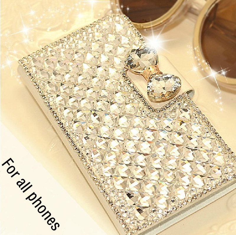 50pcs/lot New Luxury Bling Rhinestone Diamond Wallet Flip Leather Case Cover For Blackberry Passport Silver Edition Wholesale(China (Mainland))