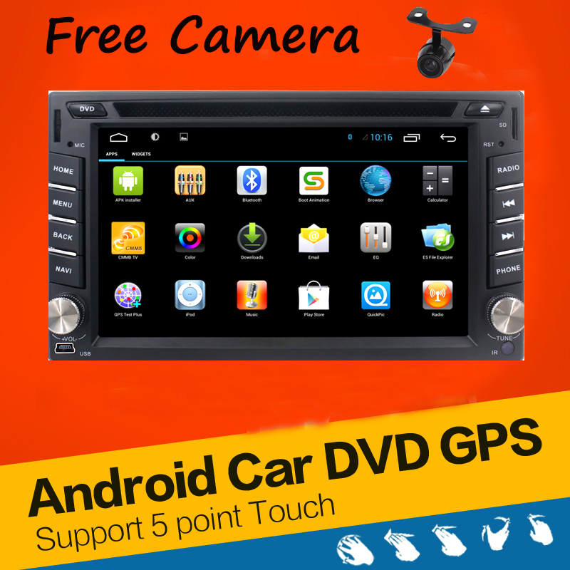 In Dash Android 4.2 2-CPU Double 2 Din Car radio GPS Navi DVD Player Stereo Headunit Video BT Car PC CD WiFi 3G car parking(China (Mainland))