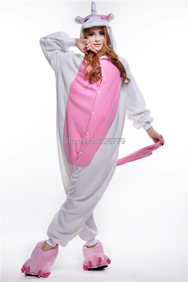 cosplay unisex rompertjes pyjama volwassen kostuums roze eenhoorn nieuwe stuk pakken ons nieuwe anime dier pyjama(China (Mainland))