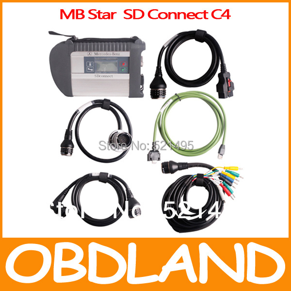 High Quality Support 20 Languages NEW SD Connect MB Star Compact C4 MB star C4 multiplexer with WIFI(China (Mainland))