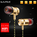 GLAUPSUS GJ01 In Ear 3 5mm Super Bass Microphone Earphones Earplug Stereo Metal HIFI In Ear