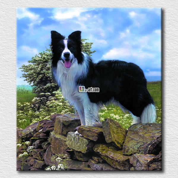 High quality wall paintings of lovely dog printing pictures for bedroom decoration gift for children(China (Mainland))