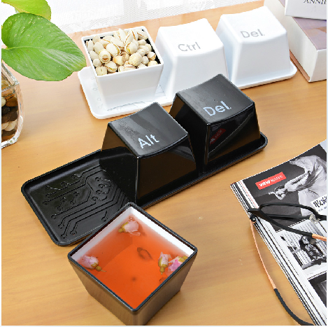 3pcs/Set Novelty Creative Simple Keyboard Ctrl ALT DEL Type Tea Coffee Mug Cup Container(China (Mainland))