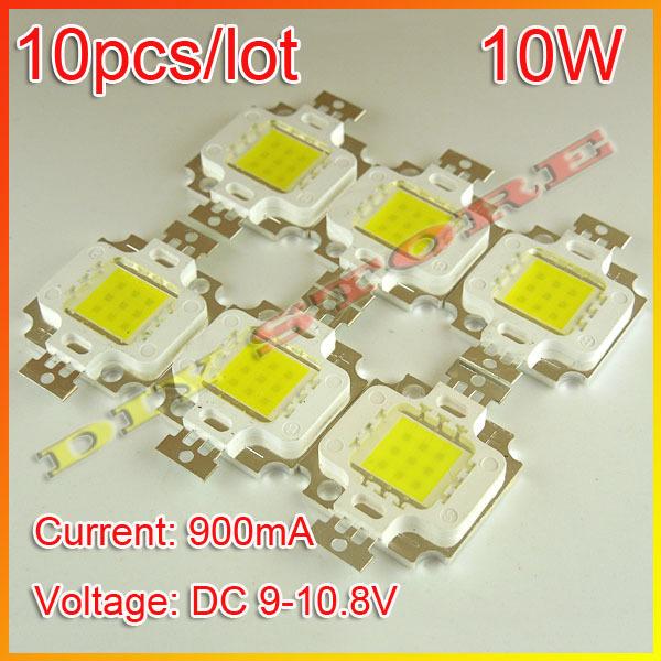 10pcs/lot Free Shipping 10W 900LM LED Bulb IC SMD Lamp Light White High Power-10000054(China (Mainland))