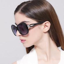 IVE Wholesale 2016 Luxury Women Sunglasses Fashion Round Ladies Vintage Brand Designer Oversized Female Sport Sun Glasses KD9556