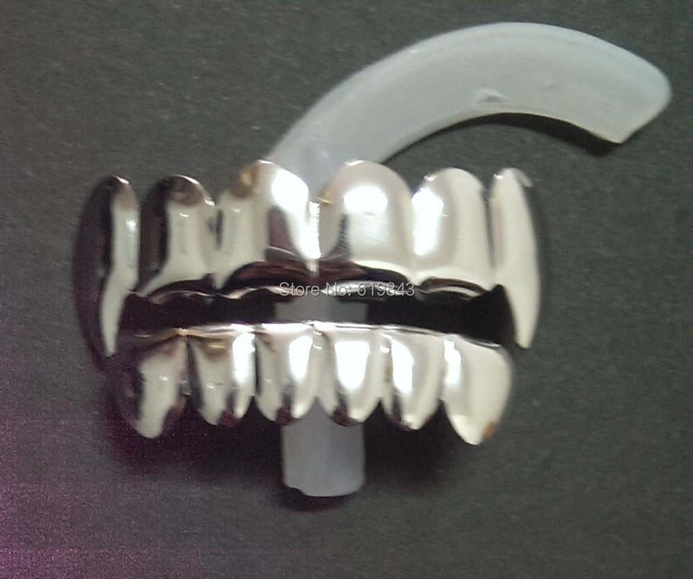 Silver Grillz Top And Bottom Grillz Top And Bottom